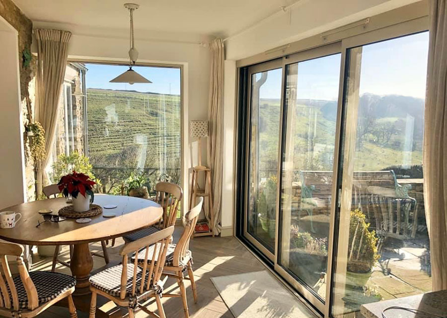 Cotswold Cottage Extension Dining Space With Country View