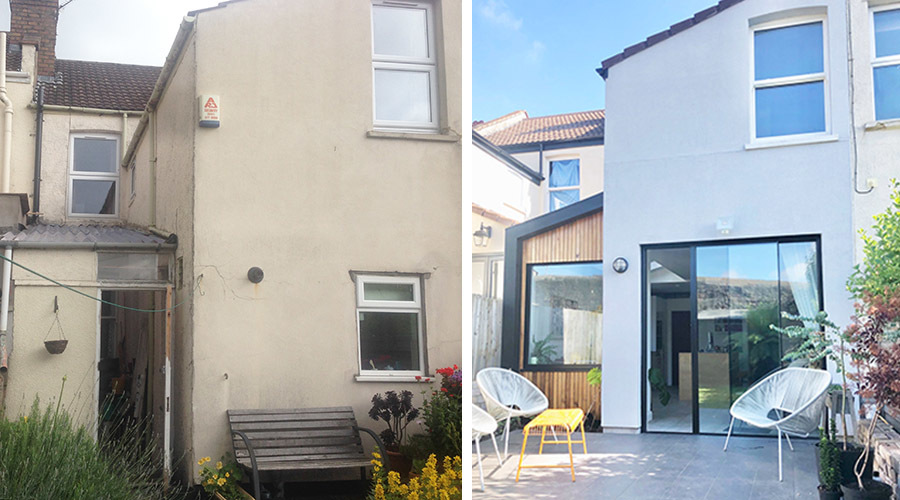 Victorian Terrace Extension Before And After