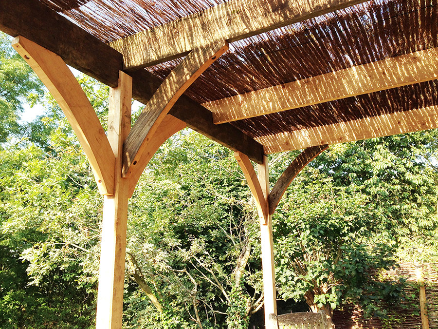 Wooden Garden Pergola Roof Detail