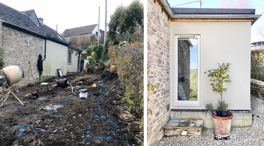 Bedroom Extension Before And After